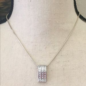 Jewelry - Sterling Silver & Simulated Diamond Necklace